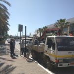 Tοποθέτηση νέων φωτιστικών ιστών από τον Δήμο Χανίων