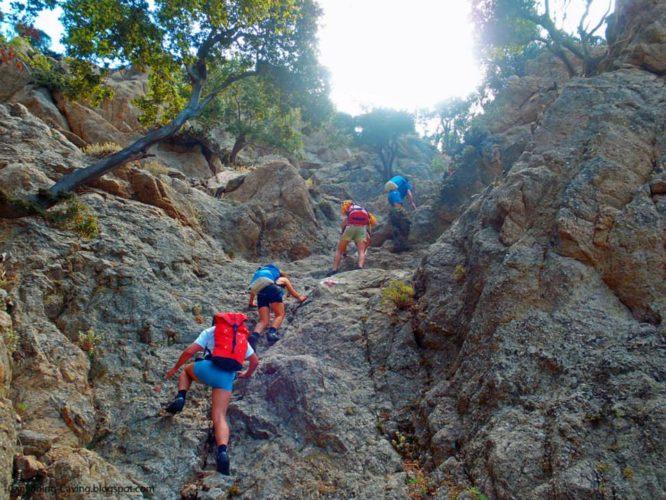 Ο Ορειβατικός στο Καρανταλιώτικο Φαράγγι στο νομό Ρεθύμνου