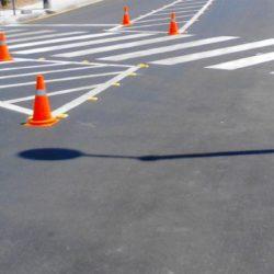Εργασίες διαγράμμισης οδού και διαβάσεων επί της ΠΕΟ στα όρια του δήμου Πλατανιά