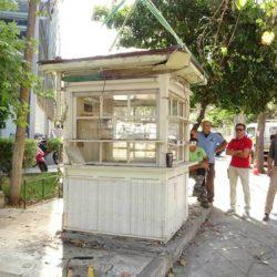 «Ξηλώθηκε» το άδειο περίπτερο στην πλατεία Δικαστηρίων