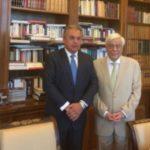 Στον Προκόπη Παυλόπουλο ο Βασίλης Σταθάκης, για το παγκόσμιο συνέδριο των Πολιτιστικών διαδρομών