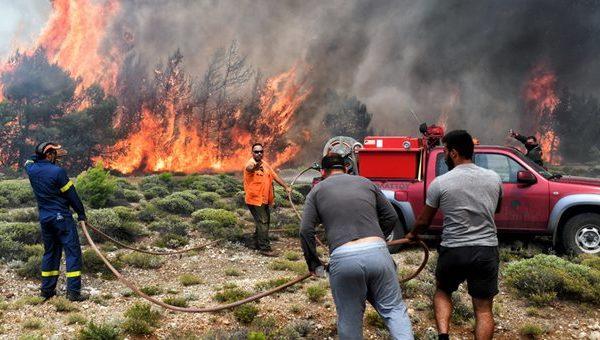 Υψηλός ο κίνδυνος πυρκαγιάς για σήμερα Δευτέρα στα Χανιά
