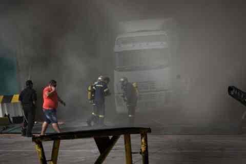 """Το """"ευχαριστώ"""" της ΑΝΕΚ για την κατάσβεση της φωτιάς στο """"Ελευθέριος Βενιζέλος"""""""