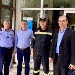 Η Περιφέρεια στηρίζει το έργο της Πυροσβεστικής Υπηρεσίας καλύπτοντας ανάγκες σε υλικοτεχνική υποδομή