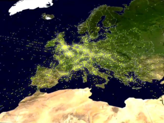 Ιστορικό ρεκόρ πτήσεων στον Ευρωπαϊκό εναέριο χώρο την Παρασκευή