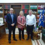 Συνάντηση του Περιφερειάρχη Κρήτης με την πρέσβειρα της Ιρλανδίας