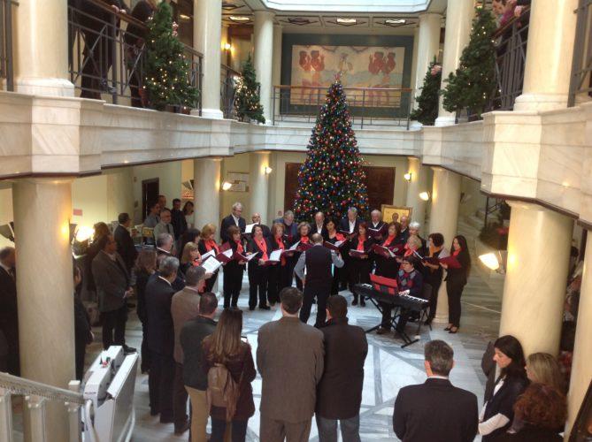 Χριστουγεννιάτικη γιορτή στα κεντρικά γραφεία των Μινωικών Γραμμών
