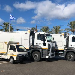 Με τρία νέα απορριμματοφόρα ενισχύθηκε ο δήμος Πλατανιά