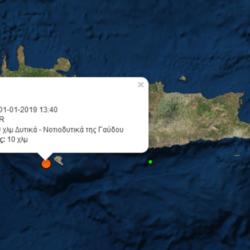 Ποδαρικό με σεισμό στην Κρήτη