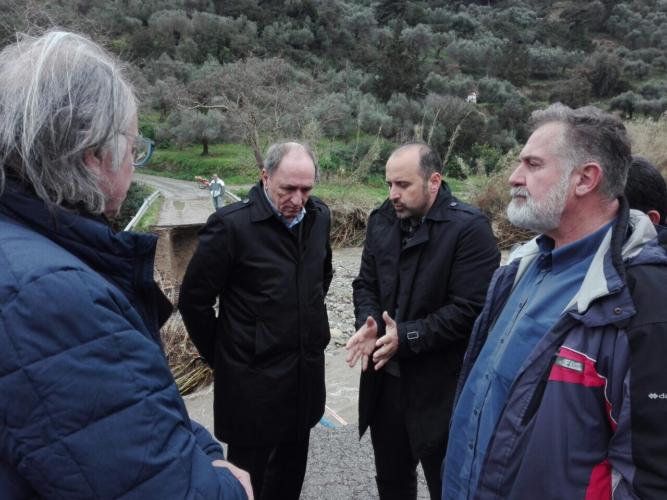 Στην Κίσαμο και στον ΟΑΚ ο Γιώργος Σταθάκης, ενημερώθηκε για τις καταστροφές