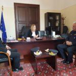 Συνάντηση του νέου διοικητή Π.Υ. Κρήτης με την συντονίστρια της αποκεντρωμένης διοίκησης