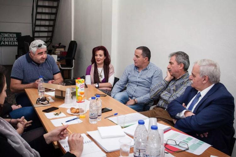Ευτύχης Δαμιανάκης: άκουσε τα προβλήματα των εργαζομένων στον δήμο Χανίων