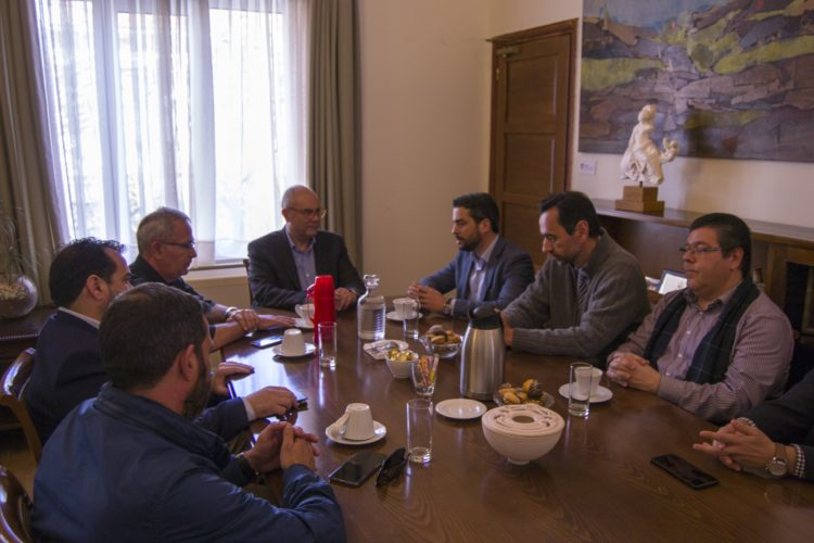 Με τον Τάσο Βάμβουκα συναντήθηκε ο Παναγιώτης Σημανδηράκης