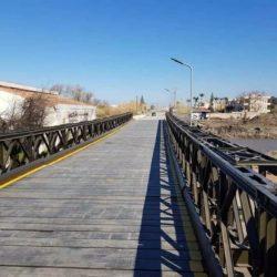 Στην κυκλοφορία ξανά η στρατιωτική γέφυρα στον Πλατανιά