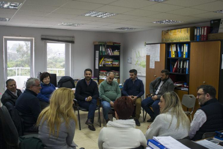 Την πολεοδομία του δήμου και το ΤΕΕ επισκέφθηκε ο Παναγιώτης Σημανδηράκης