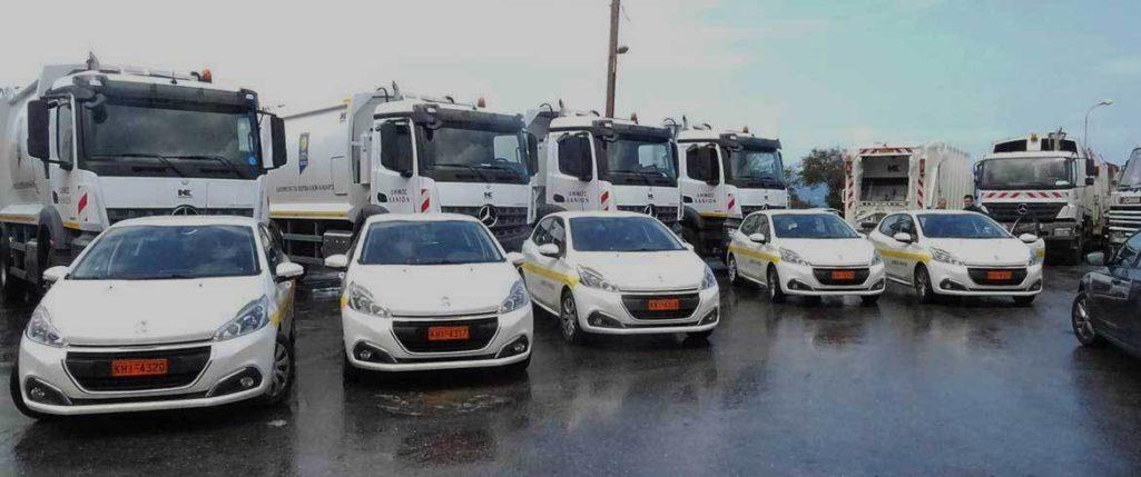 Νέα οχήματα και μηχανήματα παρέλαβε ο δήμος Χανίων