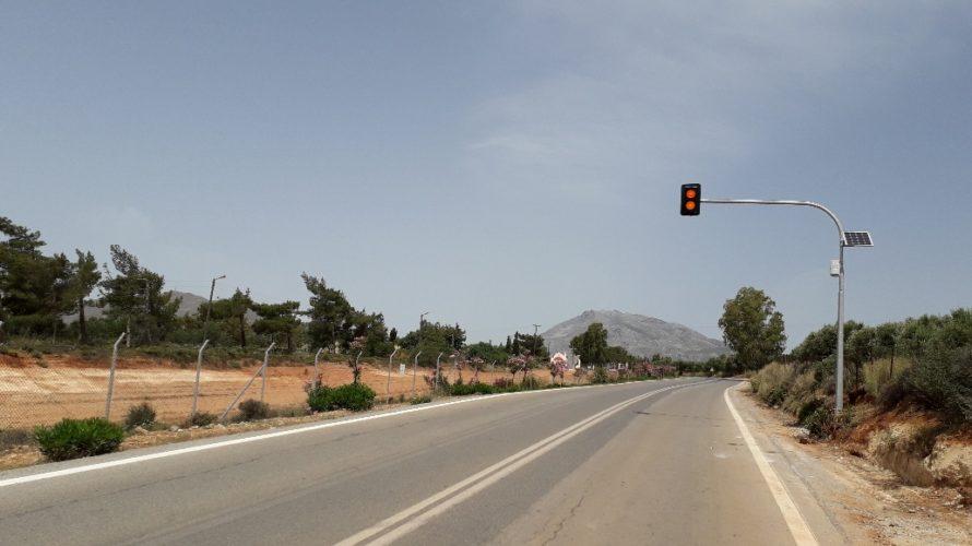 Θα τοποθετηθούν αναλάμποντα φανάρια σε επικινδυνα σημεία του οδικού δικτύου της Κρήτης