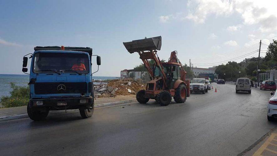 Κατεδαφίσθηκε ετοιμόρροπο κτίσμα στο Καλαμάκι