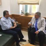 Συνάντηση του Στ. Αρναουτάκη με τον νέο Γ.Γ. Απόδημου Ελληνισμού Γιάννη Χρυσουλάκη