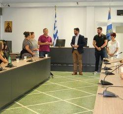 Υποδοχή εκπαιδευτικών & μαθητών του προγράμματος e-twinning, στο Δημαρχείο Χανίων