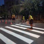 Δήμος Χανίων: Διαγραμμίσεις έξω από σχολικές μονάδες και στο κέντρο της πόλης