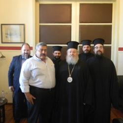 Με τον νέο αντιπεριφερειάρχη Χανίων συναντήθηκε ο μητροπολίτης Δαμασκηνός
