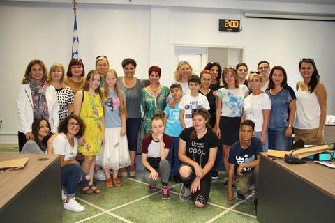 Υποδοχή εκπαιδευτικών και μαθητών του προγράμματος ERASMUS στο Δημαρχείο Χανίων