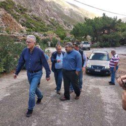 Περιοδεία στις πληγείσες περιοχές από τον Νίκο Καλογερή