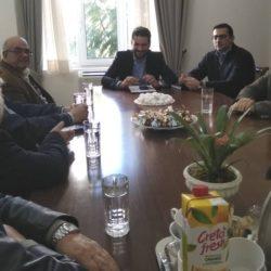 Με τους εκπροσώπους των συνταξιούχων των Χανίων, συναντήθηκε ο Παναγιώτης Σημανδηράκης