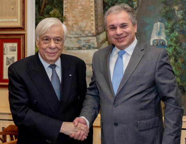 Με τον Πρόεδρο της Δημοκρατίας συναντήθηκε ο πρόεδρος του EHICA