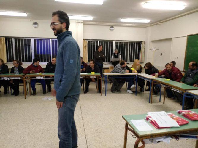"""Μέλη του κέντρου στήριξης """"Κοινωνικής και Αλληλέγγυας Οικονομίας"""" ενημέρωσαν μαθητές του ΣΔΕ Αλικιανού"""