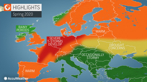 Accuweather: Τι καιρό θα κάνει την άνοιξη στην Ελλάδα και στην υπόλοιπη Ευρώπη