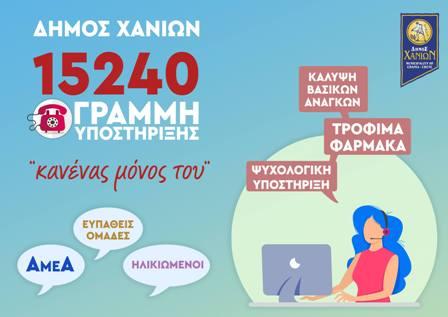 Δράσεις του Τμήματος Κοινωνικής Πολιτικής του δήμου Χανίων, στην εποχή της καραντίνας