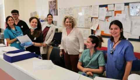 Η διευθύντρια της ΥΠΕ Κρήτης, επισκέφθηκε το τριήμερο του Πάσχα όλα τα νοσοκομεία του νησιού