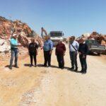 Αυτοψία Καλογερή στο σημαντικό έργο οδοποιίας Βρυσών - Σφακίων