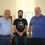Συνάντηση του Αντώνη Παπαδεράκη με εκπροσώπους του συλλόγου Εστίασης ν. Χανίων