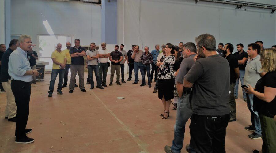 Συνάντηση Παπαδογιάννη με τα συνεργεία και τους εργαζόμενους του ΟΑΚ