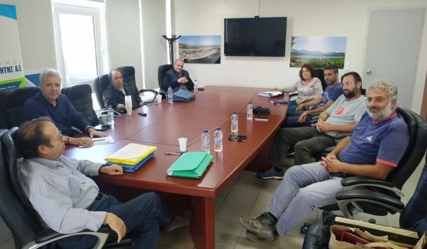 Τεχνική σύσκεψη στον ΟΑΚ για την επανεκκίνηση του έργου σύνδεσης του ΒΟΑΚ με την πόλη των Χανίων