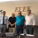 Με στελέχη της Αναπτυξιακής Τράπεζας, του Υπουργείου Εργασίας και της ΕΣΣΕ συναντήθηκε ο Α.Παπαδεράκης