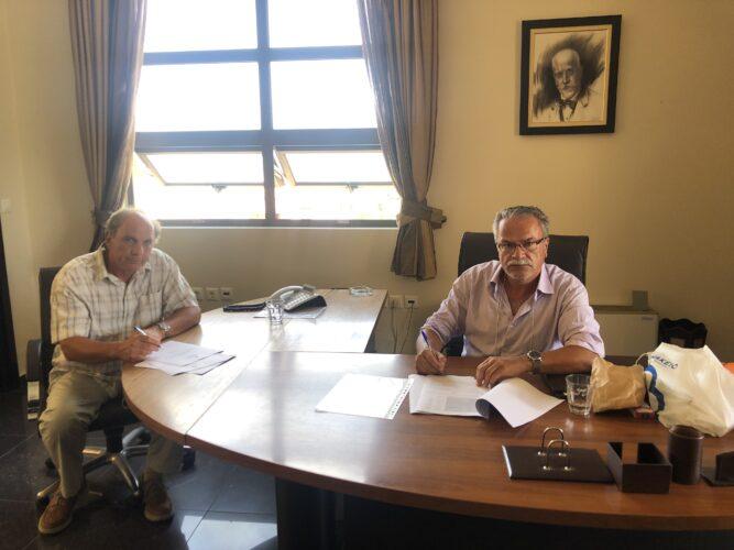 Υπεγράφη η σύμβαση για αντιπλημμυρικά έργα στον Πλατανιά