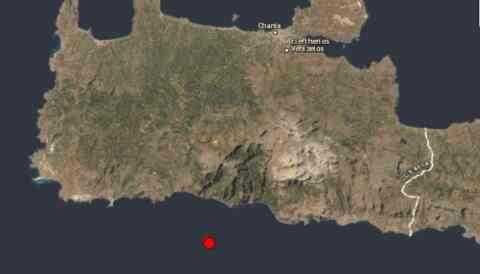 Ασθενής σεισμική δόνηση στα νότια των Χανίων