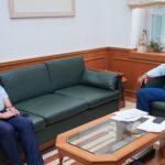 Συνάντηση του δημάρχου Αποκορώνου με τον Περιφερειάρχη Κρήτης για αναπτυξιακά θέματα του δήμου