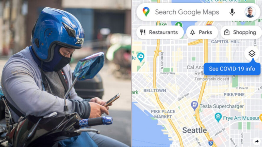 Google Maps: Ενημέρωση και για τις περιοχές με πολλά κρούσματα κορωνοϊού