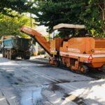 Εργασίες ανακατασκευής ασφαλτοτάπητα στην οδό Παπαναστασίου