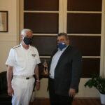 Στην Αντιπεριφέρεια Χανίων ο διοικητής του Ναυστάθμου Κρήτης