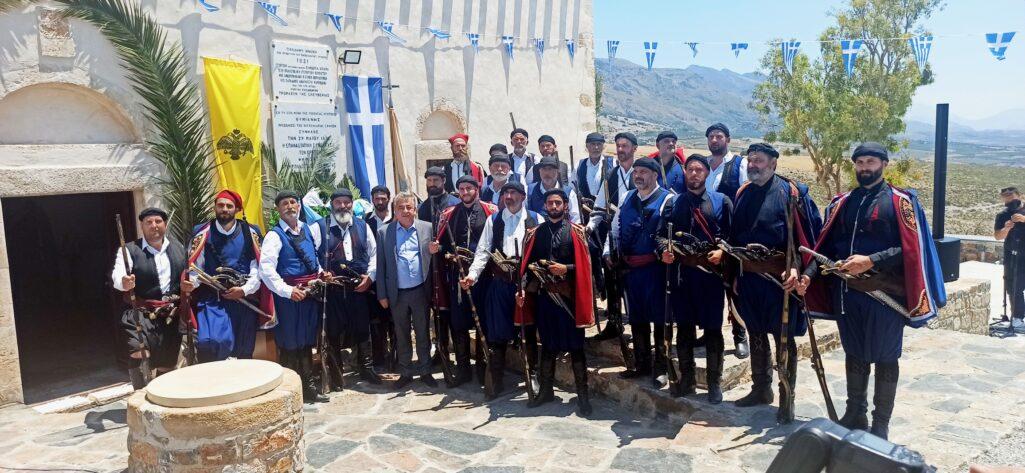 Τιμήθηκε η μνήμη των ηρώων που κήρυξαν την επανάσταση του 1821 στην Κρήτη