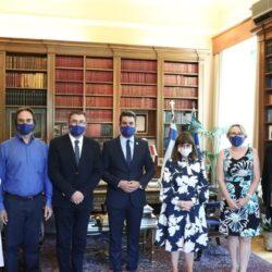 Με την Πρόεδρο της Δημοκρατίας, συναντήθηκε ο Παναγιώτης Σημανδηράκης