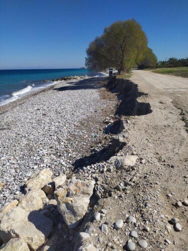 Άμεσα μέτρα προστασίας του βόρειου παραλιακού μετώπου των Χανίων από την εντεινόμενη διάβρωση