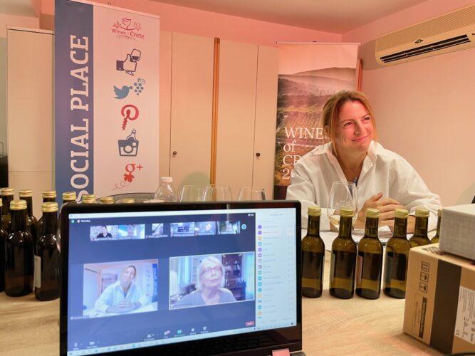 Με επιτυχία πραγματοποιήθηκε η πρώτη διαδικτυακή γευσιγνωσία του WinesofCrete