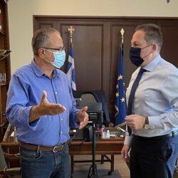 Συνάντηση του Δημάρχου Πλατανιά, με τον Αναπληρωτή Υπουργό Εσωτερικών κ. Πέτσα